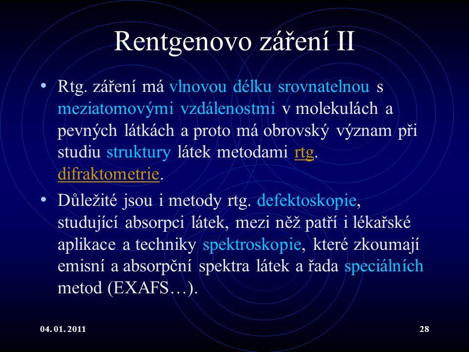 Rentgenovo záření II