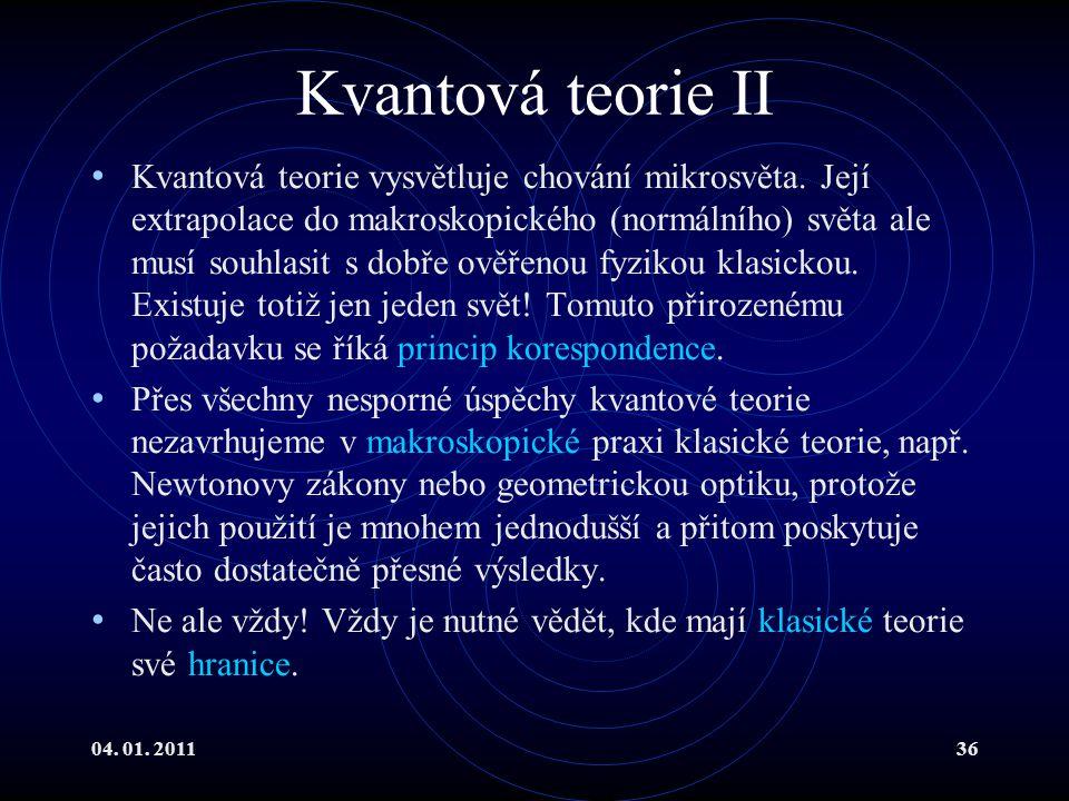 Kvantová teorie II