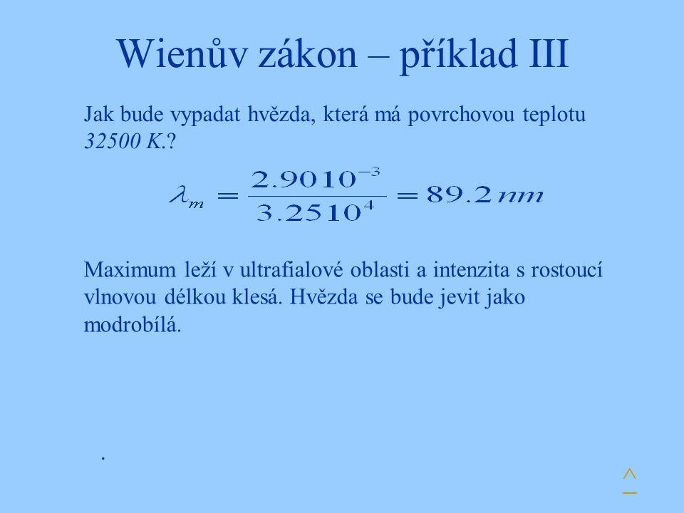 Wienův zákon – příklad III