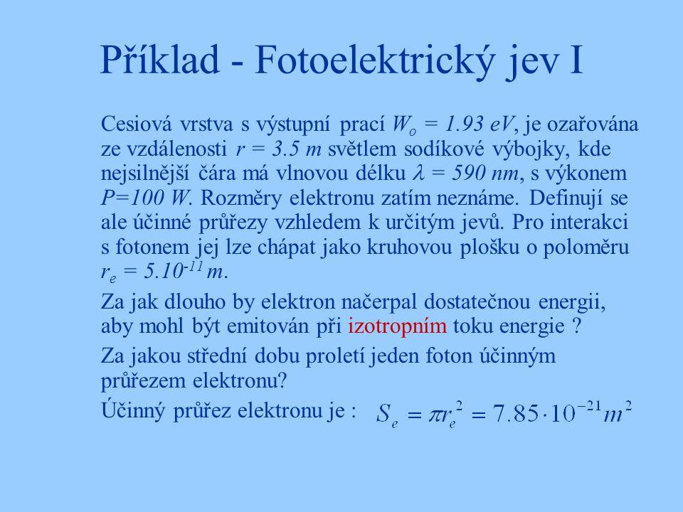 Příklad - Fotoelektrický jev I