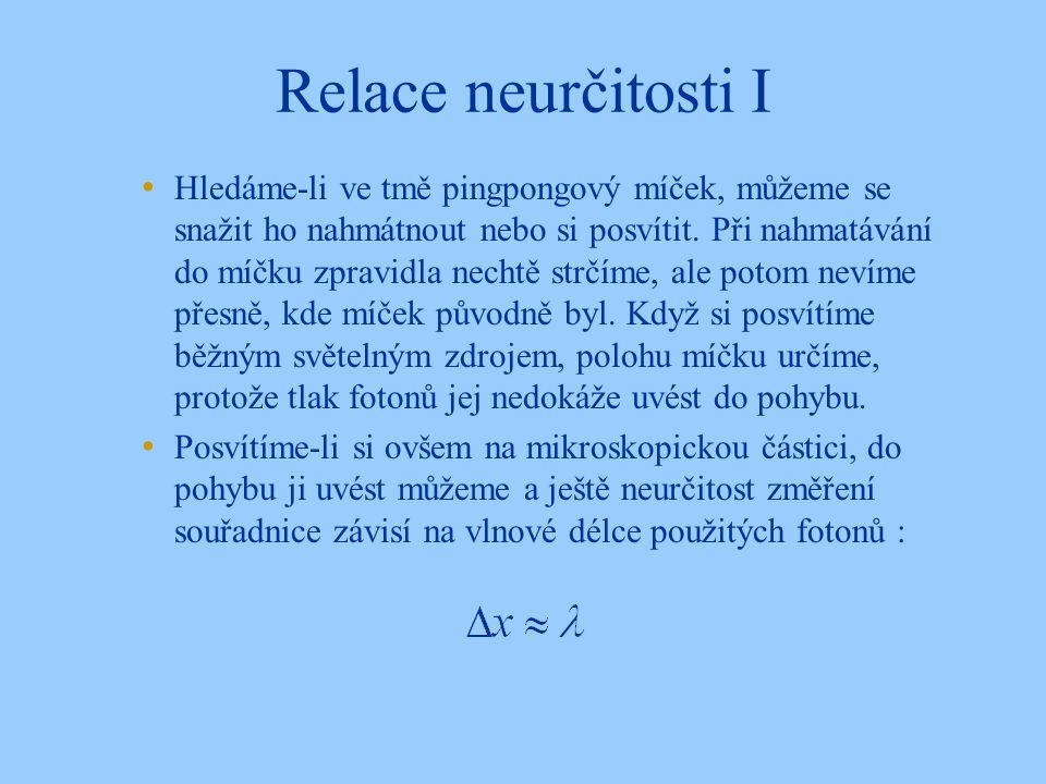 Relace neurčitosti I