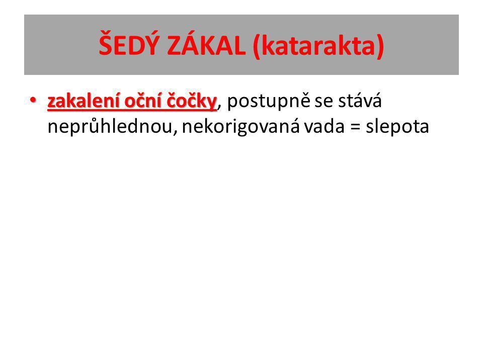 ŠEDÝ ZÁKAL (katarakta)