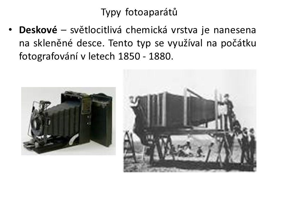 Typy fotoaparátů