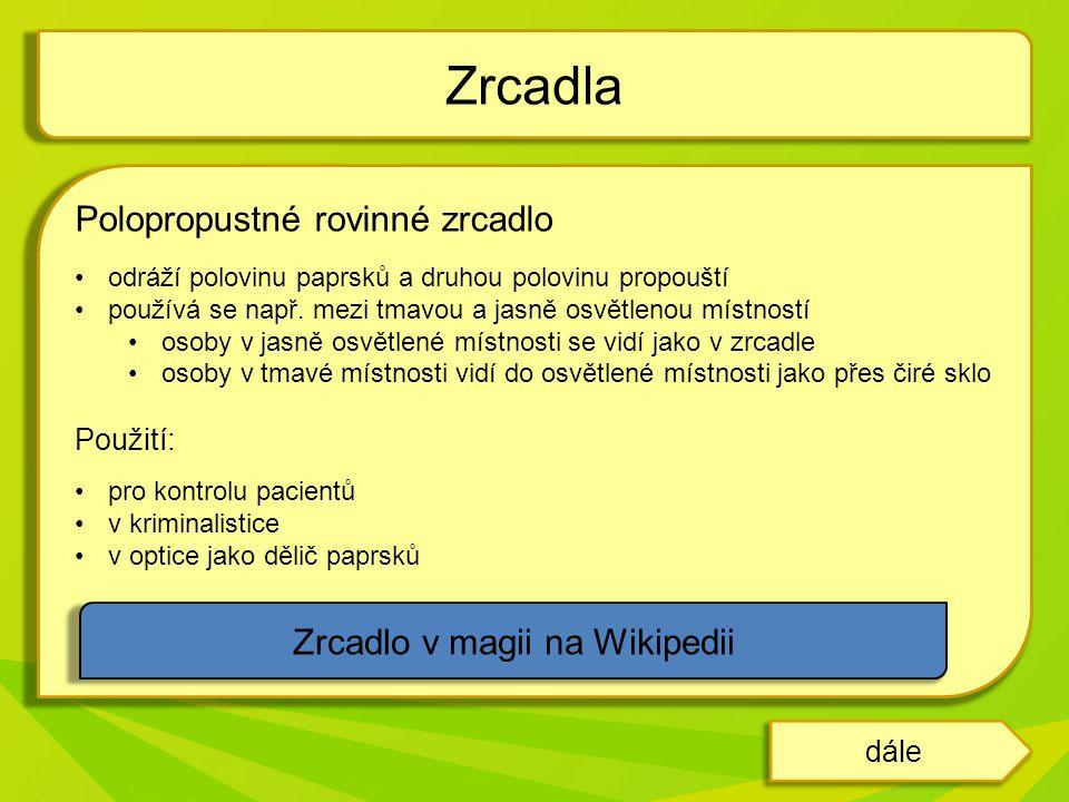 Zrcadlo v magii na Wikipedii