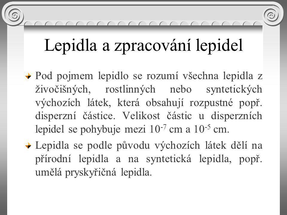 Lepidla a zpracování lepidel