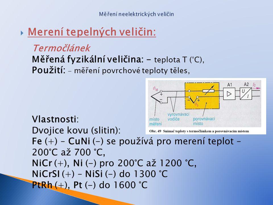 Měření neelektrických veličin
