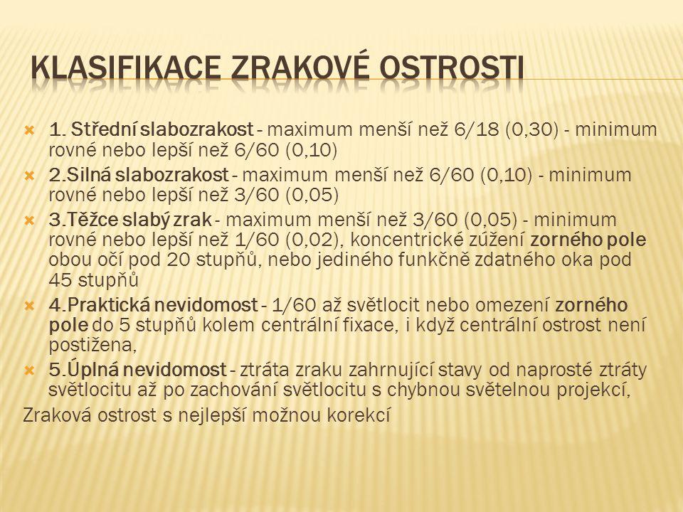 Klasifikace zrakové ostrosti