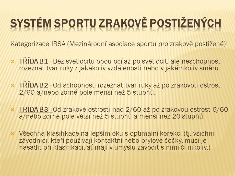 Systém sportu zrakově postižených