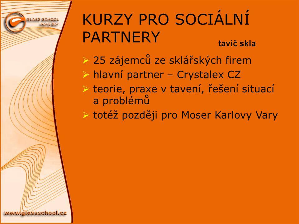 KURZY PRO SOCIÁLNÍ PARTNERY