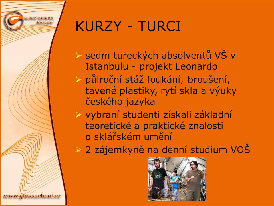 KURZY - TURCI sedm tureckých absolventů VŠ v Istanbulu - projekt Leonardo.