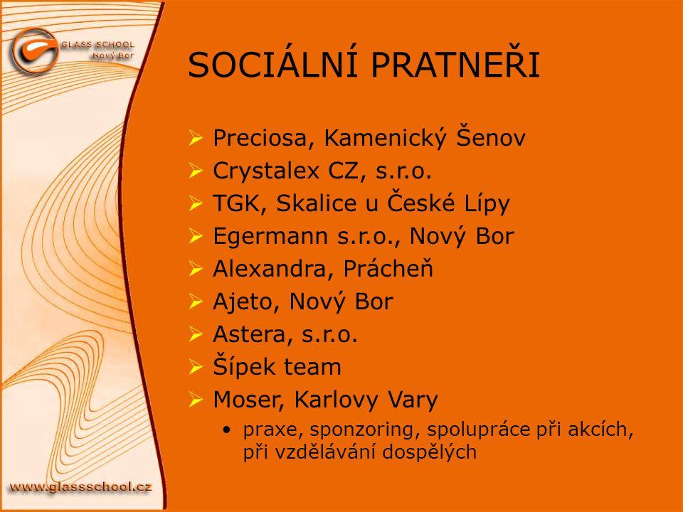 SOCIÁLNÍ PRATNEŘI Preciosa, Kamenický Šenov Crystalex CZ, s.r.o.