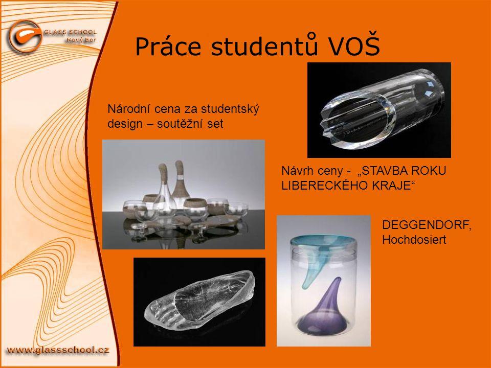 Práce studentů VOŠ Národní cena za studentský design – soutěžní set