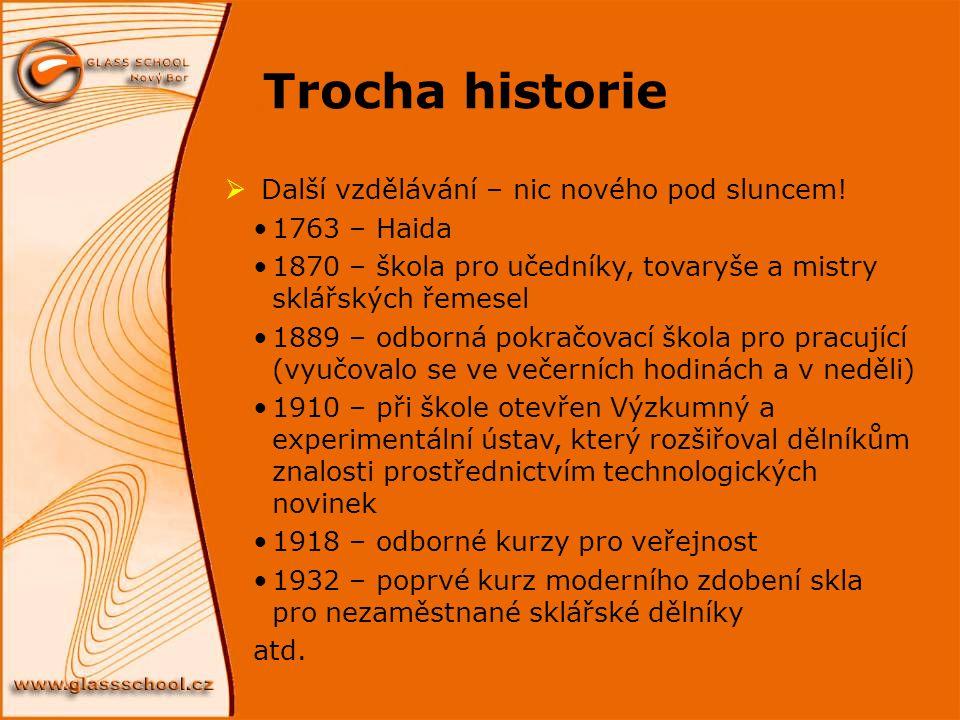 Trocha historie Další vzdělávání – nic nového pod sluncem!
