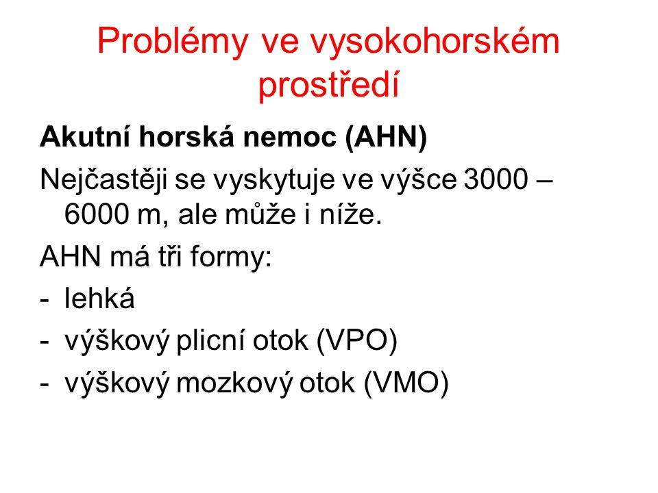 Problémy ve vysokohorském prostředí