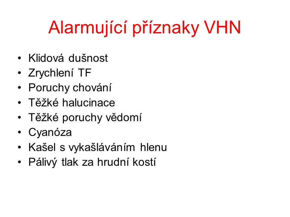 Alarmující příznaky VHN