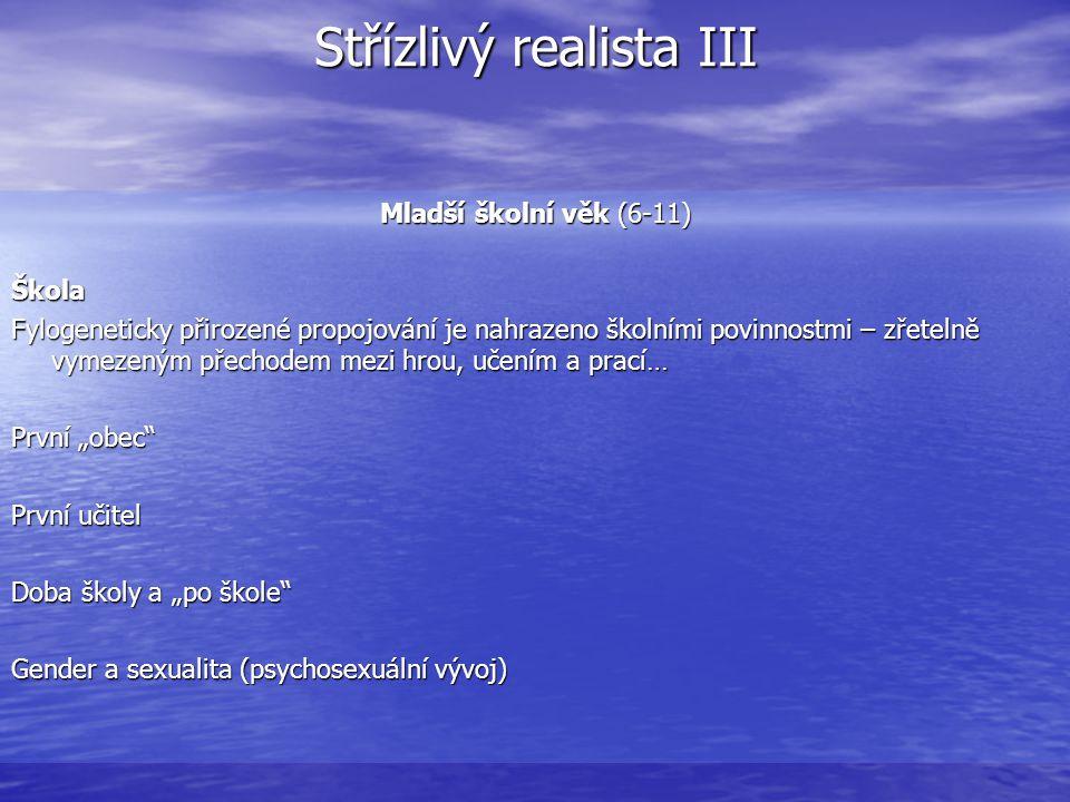 Střízlivý realista III