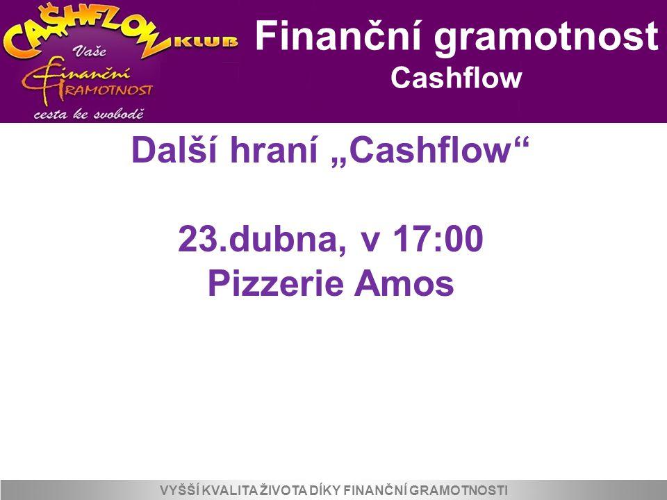 """Další hraní """"Cashflow VYŠŠÍ KVALITA ŽIVOTA DÍKY FINANČNÍ GRAMOTNOSTI"""