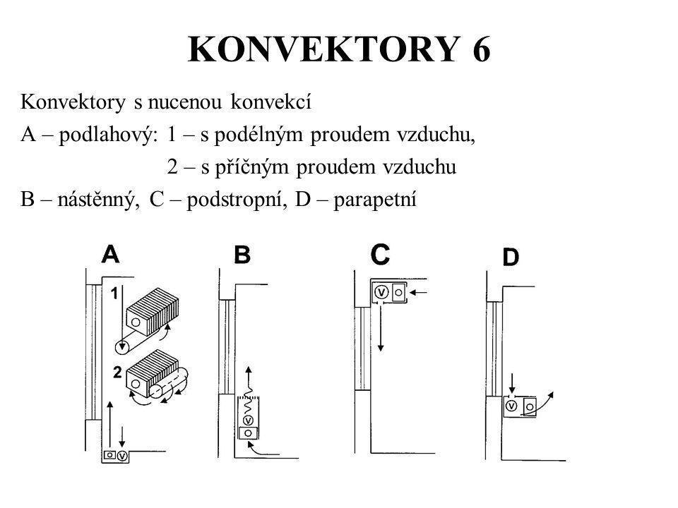 KONVEKTORY 6 Konvektory s nucenou konvekcí