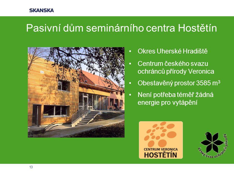 Pasivní dům seminárního centra Hostětín