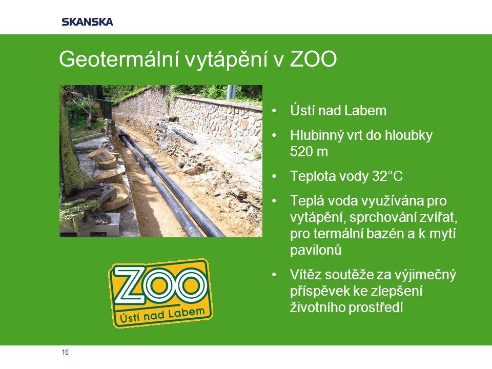 Geotermální vytápění v ZOO