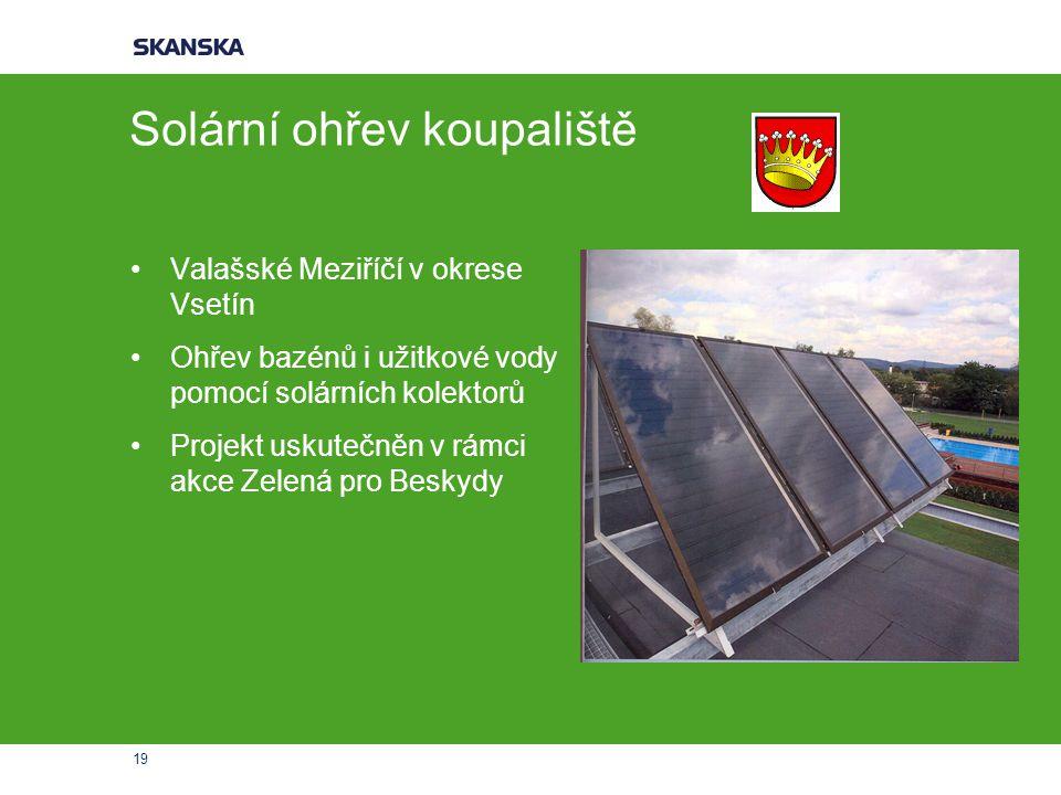 Solární ohřev koupaliště