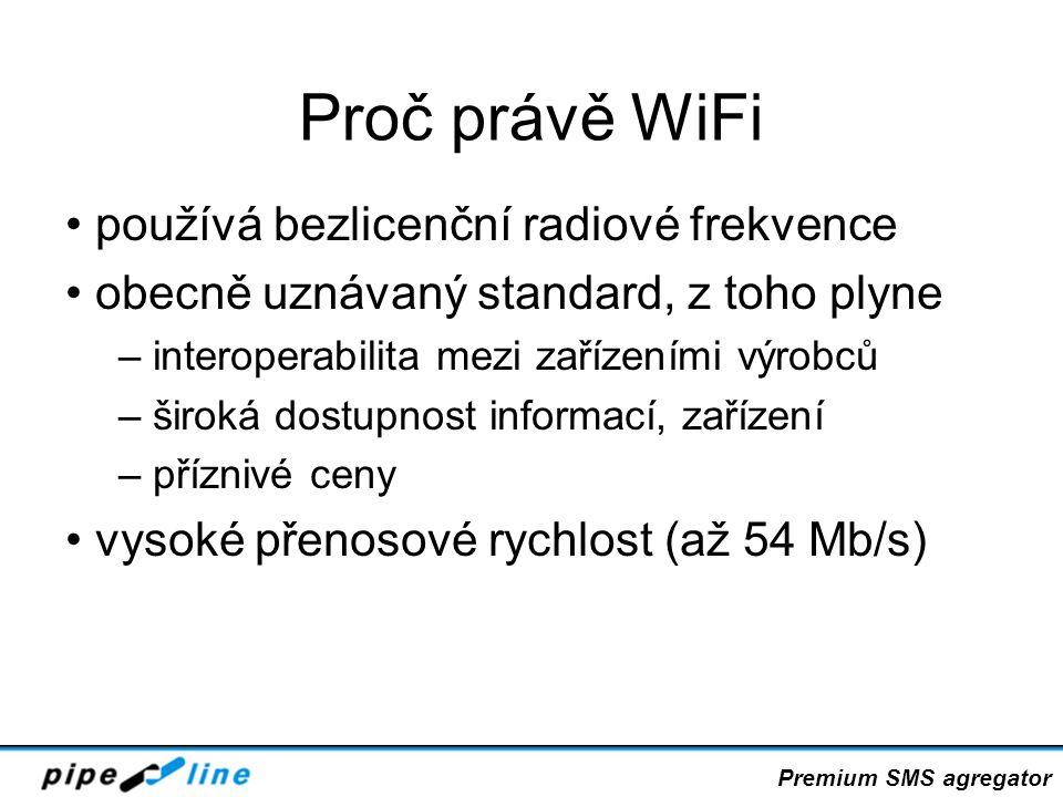 Proč právě WiFi používá bezlicenční radiové frekvence