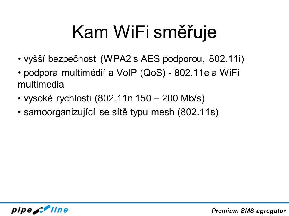 Kam WiFi směřuje vyšší bezpečnost (WPA2 s AES podporou, 802.11i)