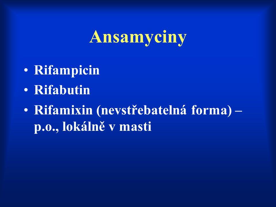 Ansamyciny Rifampicin Rifabutin