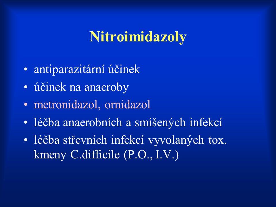 Nitroimidazoly antiparazitární účinek účinek na anaeroby
