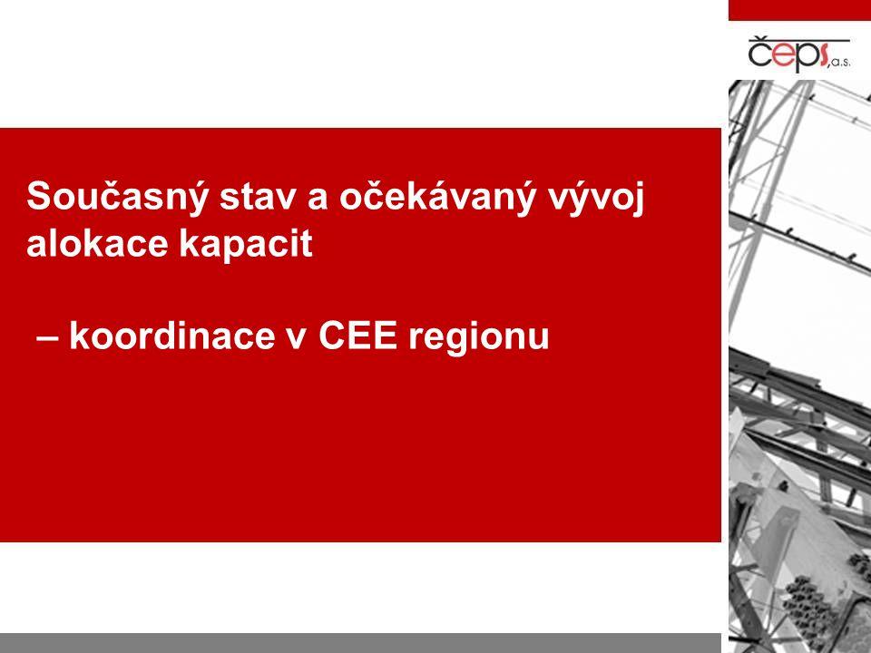 Současný stav a očekávaný vývoj alokace kapacit – koordinace v CEE regionu