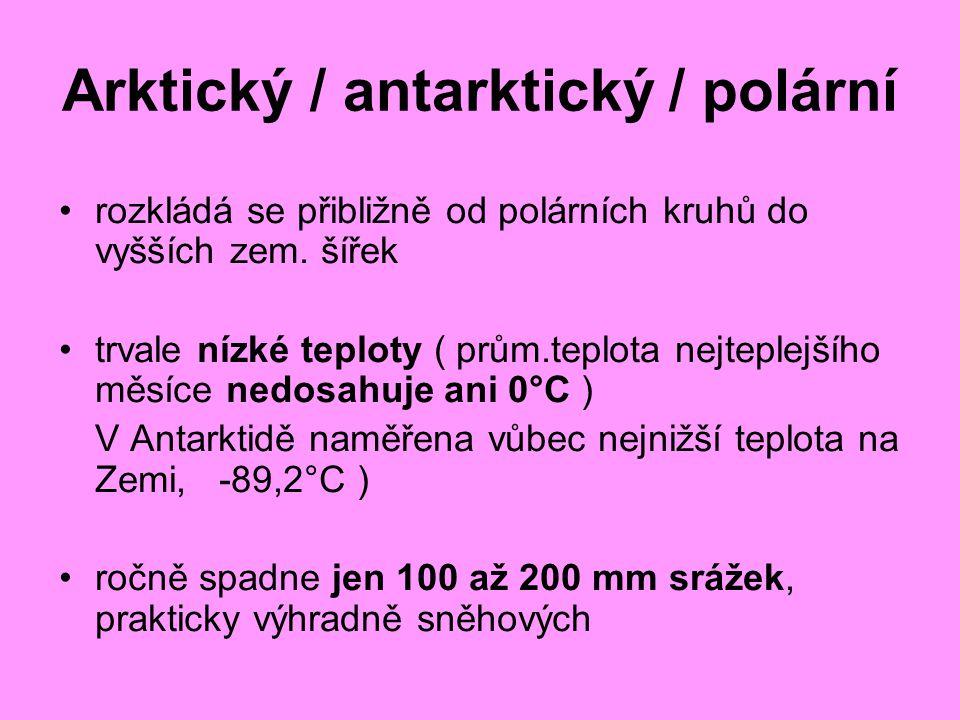 Arktický / antarktický / polární