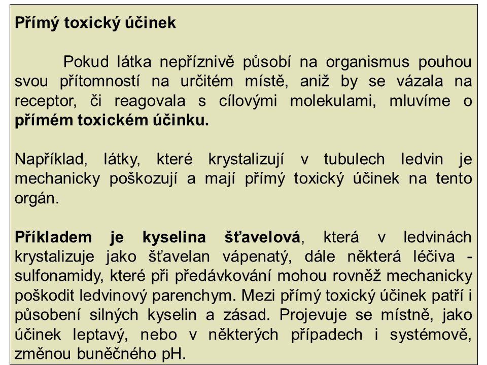 Přímý toxický účinek