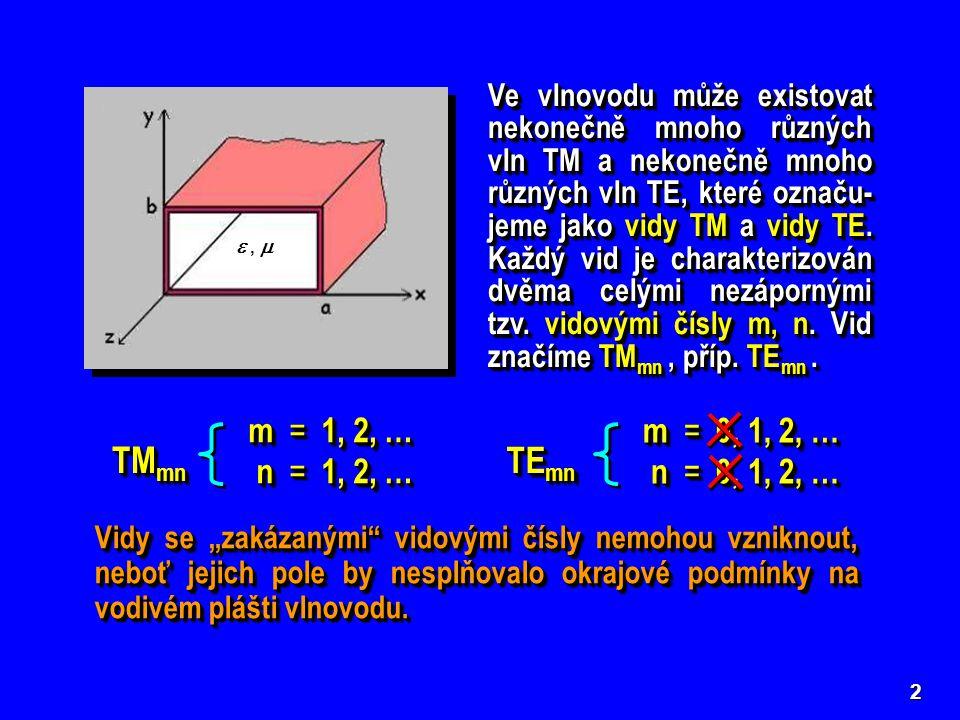 TMmn TEmn m = 1, 2, … n = 1, 2, … m = 0, 1, 2, … n = 0, 1, 2, …