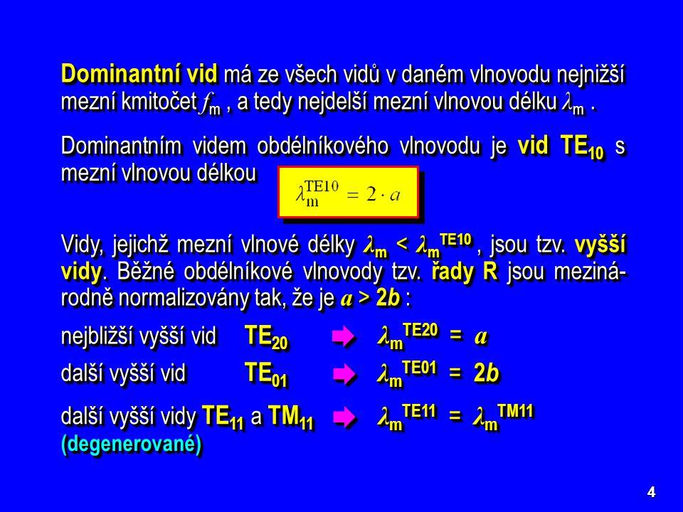Dominantní vid má ze všech vidů v daném vlnovodu nejnižší mezní kmitočet fm , a tedy nejdelší mezní vlnovou délku λm .
