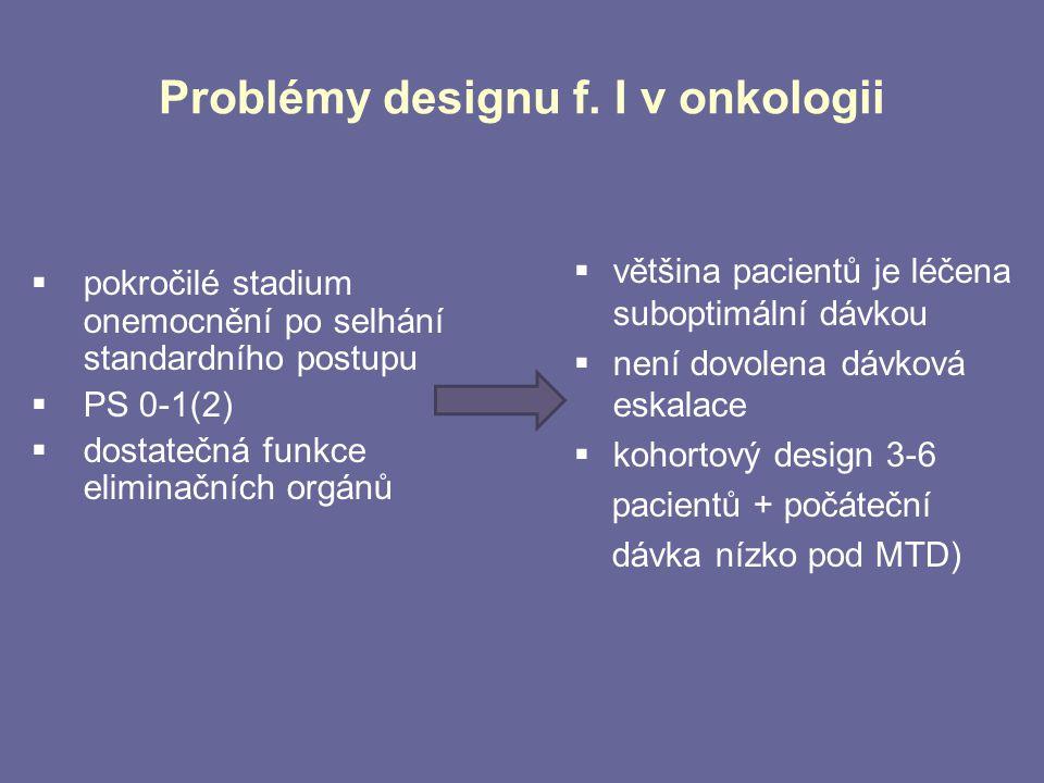 Problémy designu f. I v onkologii