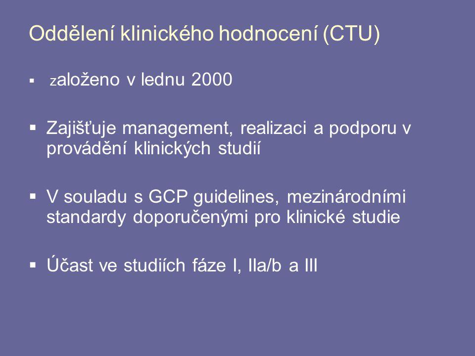 Oddělení klinického hodnocení (CTU)