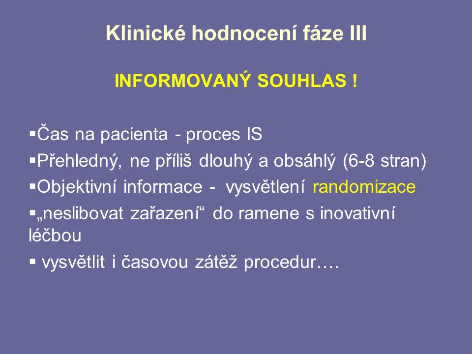 Klinické hodnocení fáze III