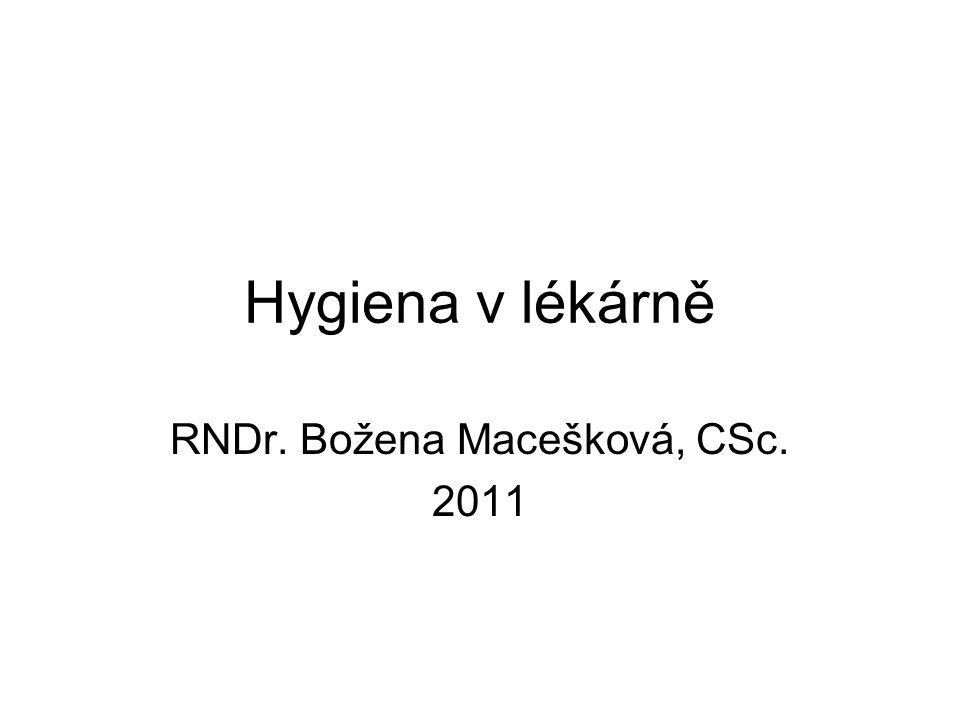 RNDr. Božena Macešková, CSc. 2011