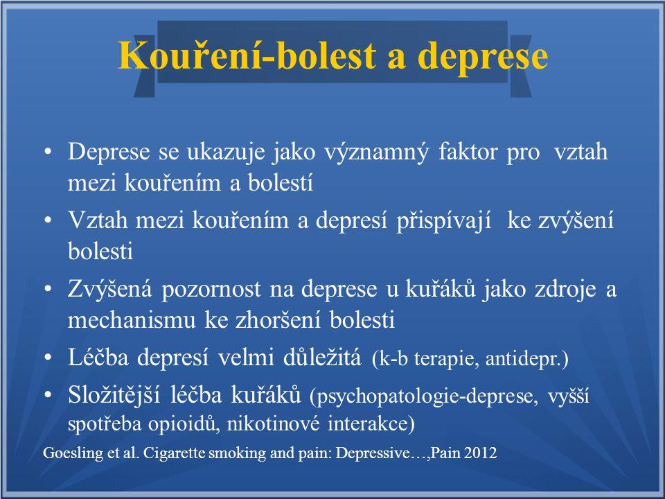 Kouření-bolest a deprese