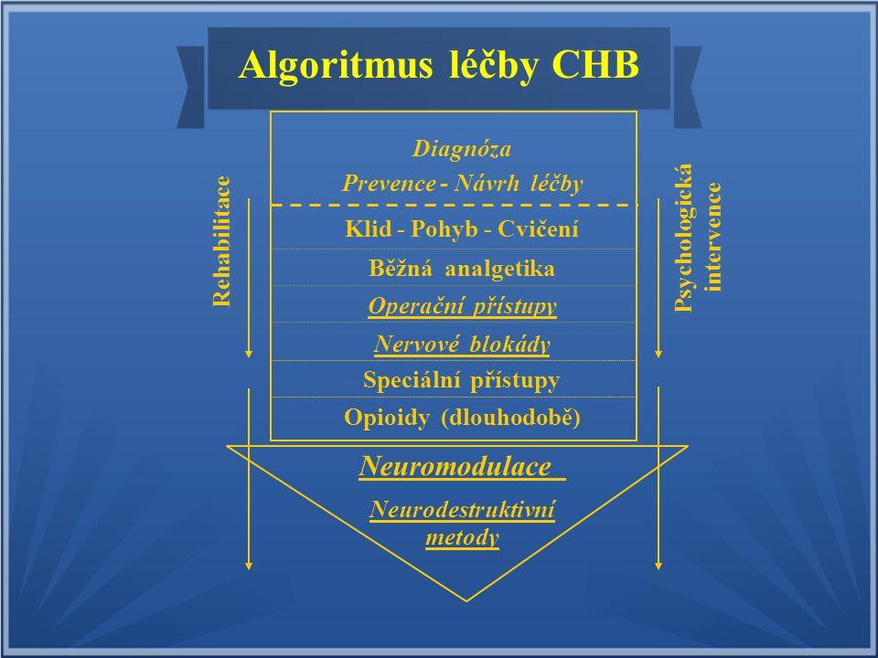 Algoritmus léčby CHB Neuromodulace Diagnóza Prevence - Návrh léčby