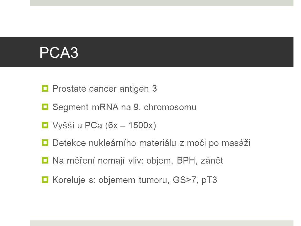 PCA3 Prostate cancer antigen 3 Segment mRNA na 9. chromosomu