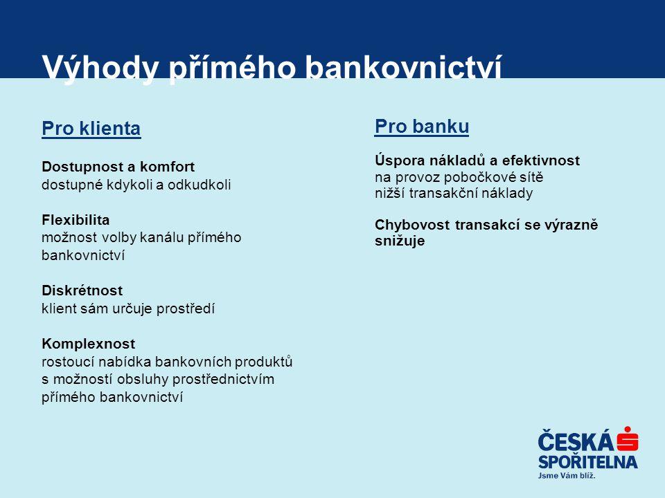Výhody přímého bankovnictví