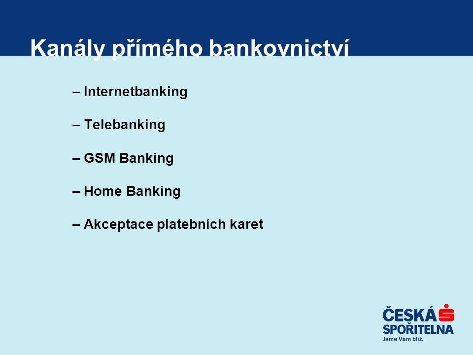 Kanály přímého bankovnictví