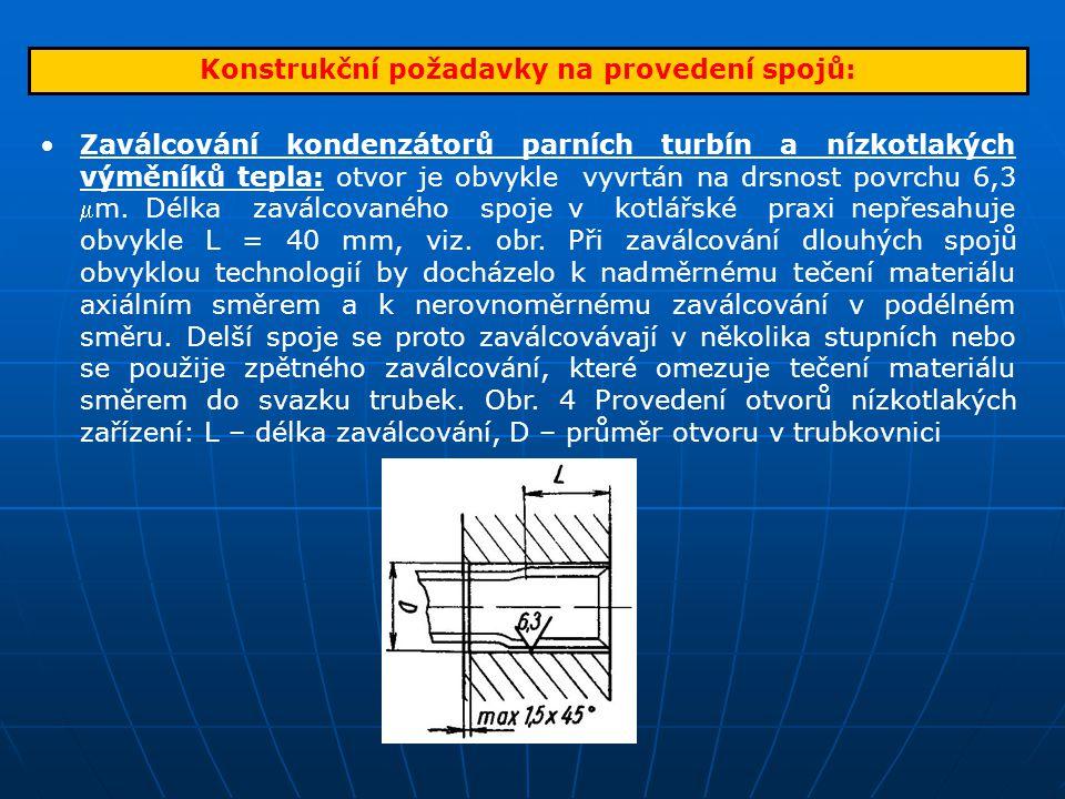Konstrukční požadavky na provedení spojů: