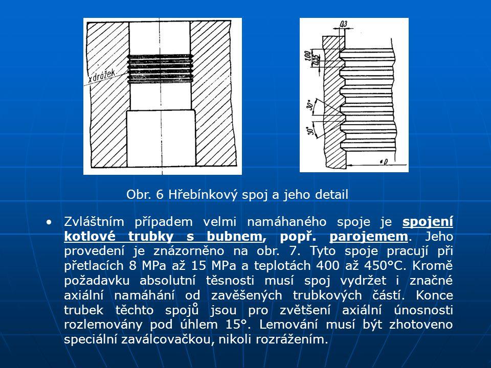 Obr. 6 Hřebínkový spoj a jeho detail