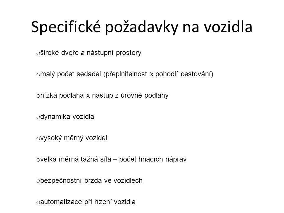Specifické požadavky na vozidla