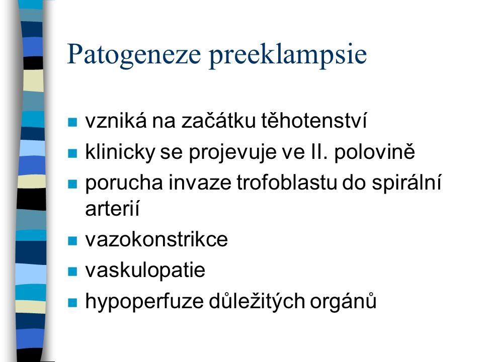 Patogeneze preeklampsie