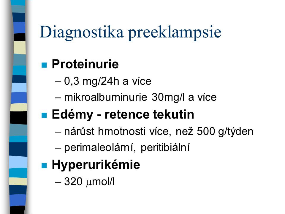 Diagnostika preeklampsie