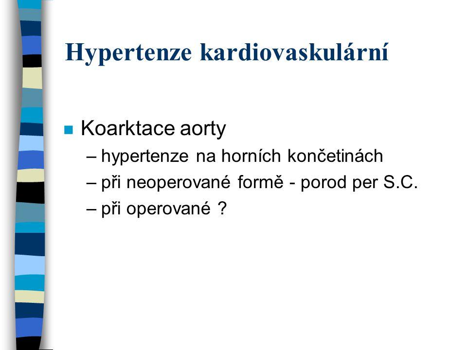 Hypertenze kardiovaskulární