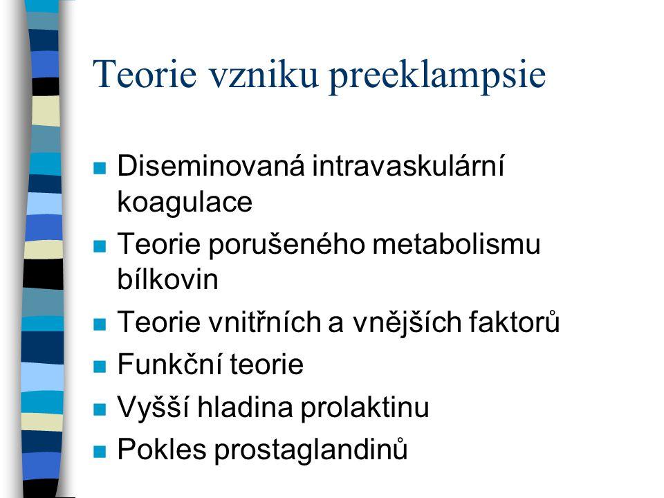 Teorie vzniku preeklampsie
